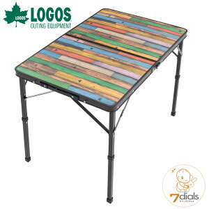 【あす楽】LOGOS/ロゴス Old Wooden 丸洗いダイニングテーブル 9060 オールドウッデン 丸洗いできてコンパクト収納 キャンプテーブル ダイニングテーブル 高さ2段階調節 ロースタイルからハイス