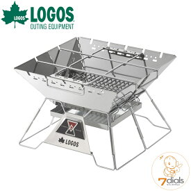 【あす楽】LOGOS/ロゴス LOGOS the ピラミッドTAKIBI L ゴトク付きで料理も楽しめる本格焚火台 タキビ 組み立て10秒でコンパクト収納 串焼きプレート付き【送料無料】