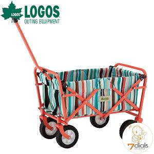 LOGOS/ロゴス 丸洗いストライプ ミディキャリー(ブルー)キャリーカート アウトドア、キャンプ 運動会など荷物をまとめて移動するときに便利 キャリーカート おしゃれ【送料無料】
