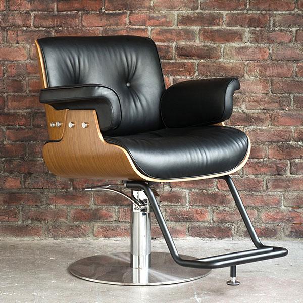 プレミアム スタイリングチェア モダン ブラック [ スタイリングチェア チェア 椅子 イス セットチェア セット椅子 セットイス カットチェア カット椅子 カットイス 美容室椅子 美容室 美容師 開業 ][ R-2-2-1 ][ 7エステ ]