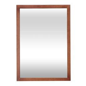 壁掛け 鏡 スタンドミラー 木枠 S530 ダークブラウン 幅60.6×奥行2×高さ86cm [ セット面 ウォールミラー 全身鏡 姿見 全身ミラー 化粧鏡 メイクアップミラー ヘア サロン 美容院 美容室 理美容 理容室 日本製 ][ R-2-5 ]