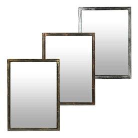 壁掛け 鏡 スタンドミラー スチール枠 M-01 全3色 幅80×奥行3.5×高さ110cm [ セット面 ウォールミラー 全身鏡 姿見 全身ミラー 化粧鏡 メイクアップミラー ヘア サロン 美容院 美容室 理美容 理容室 ][ Z-1-5 ]