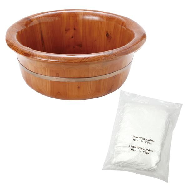 < エトゥベラ > ナチュラル フットバス ダークブラウン ( ビニールシート 100枚入 ) [ 足浴器 足浴桶 足湯器 足湯桶 フットバス器 フットケア 足浴剤 足湯剤 入浴剤 ][ E-2-5-2 ][ 7エステ ]