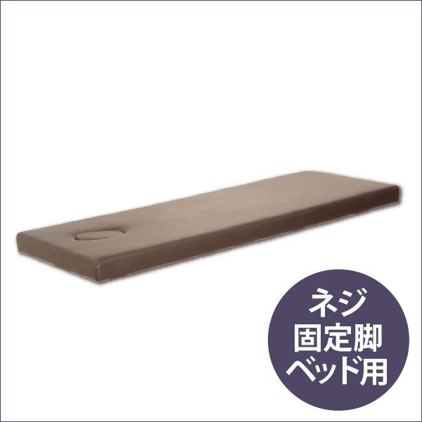 ネジ固定脚ベッド低反発天板(有孔)ブラウン 190×65cm [ マッサージベッド 施術ベッド 整体ベッド エステベッド マッサージ台 施術台 整体 ベッド ベット ][ E-2-1-1 ][ 7エステ ]