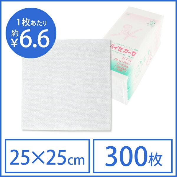 ハイゼガーゼ 25cm×25cm 300枚入 [ 化粧用ガーゼ 化粧用コットン ][ E-3-4-2 ][ 7エステ ]◆