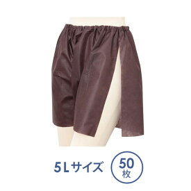 スリット入り ペーパートランクス 5Lサイズ ブラウン 50枚入 [ あかすり ペーパーショーツ 紙ショーツ 紙パンツ ペーパーパンツ 使い捨てショーツ 使い捨てパンツ ディスポ 女性用 レディース 男性用 下着 パンツ エステ用品 ] [ E-3-1-3 ]