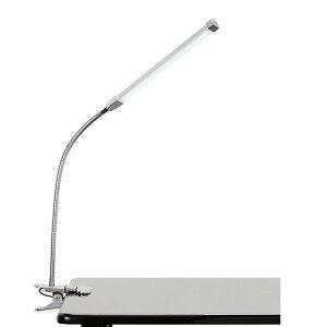 デスクライト クリップ LEDライト USB対応 シルバー アーム長40cm [ クリップライト 卓上ライト LEDランプ テーブルライト デスクスタンド 電気スタンド ライト ランプ 照明 ][ E-2-7-3 ]