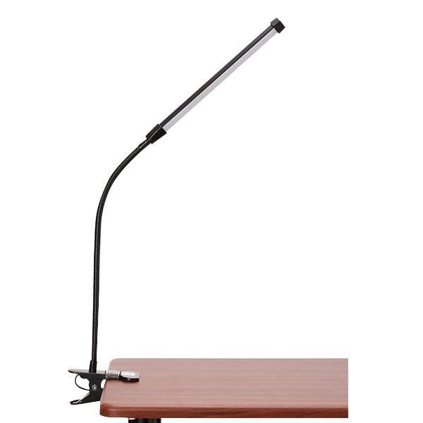 クリップ LED ライト マットブラック [ LEDライト LEDランプ 卓上ライト クリップライト デスクライト テーブルライト デスクスタンド 電気スタンド USB 照明 セルフネイル まつげエクステ まつ毛エクステ まつエク マツエク ][ Z-1-12 ][ 7エステ ]◆