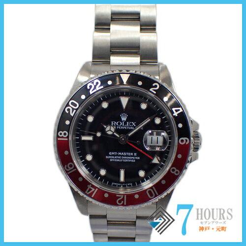 ROLEX(ロレックス)16710 GMTマスター2 X番 赤黒ベゼル【中古】