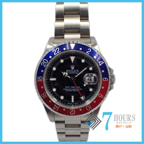 ROLEX(ロレックス)16700 GMTマスター N番 青赤ベゼル トリチウム文字盤 シングルバックル 保証書【中古】