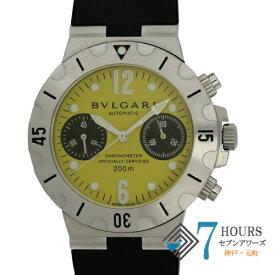 【101359】BVLGARI ブルガリ SCB38S ディアゴノスクーバクロノ イエローダイヤル  SS ラバー 自動巻き 純正ボックス