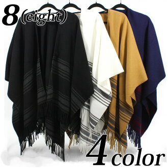 Poncho large size scarf black black white white camel navy dark blue street system outdoor system 8 (eight) with poncho men gap Dis scarf cold protection new work plain fabric line eight 8