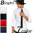 シャツ メンズ 7分袖 長袖 綿 新作 コットン ネクタイ付き 七分袖 コットンシャツホワイト 白 大きいサイズ M L LL 3L…