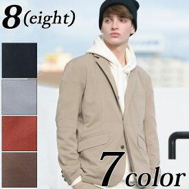テーラードジャケット メンズ ジャケット セットアップ可能! 全7色 テーラードジャケット テーラード ブレザー ブラック 2つボタン 裏地あり 伸縮性あり シンプル 8(eight) エイト 8