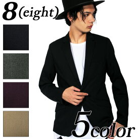 テーラードジャケット メンズ ジャケット 【 送料無料 】全5色 テーラードジャケット 全5色 テーラード スーツ生地 ブレザー 1つボタン 裏地あり 伸縮性なし シンプル 8(eight) エイト 8