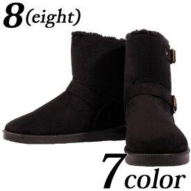 ムートンブーツ メンズ ブーツ ボア裏ボア ファー ロングブーツ 温かいブラック 黒 ブラウン 茶 インソール付き ブーツM L LL スウェードブーツ 靴 アメカジ系 アウトドア系 に♪8(eight) エイト 8