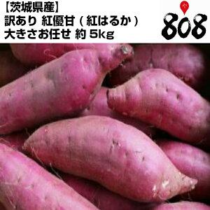 【送料無料】【茨城県産】訳あり 紅優甘 べにゆうか 紅はるか 大きさお任せ 約5kg(北海道沖縄別途送料加算)べにゆうか/べにはるか/焼き芋/煮物/さつま芋/さつまいも/サツマイモ/サツ