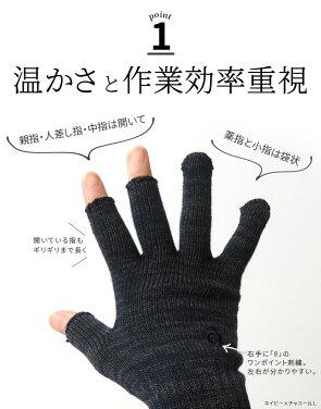 ハンドウォーマー《3フィンガー》スマホ手袋841[I:9/40]