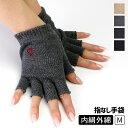 内絹外綿ハンドウォーマー 冷え取り レディース 夏 スマホ手袋 シルク コットン 天然繊維100% 指なし 室内手袋 夏 防…