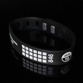 846 yajiro プラズマ シリコン ブレスレット ブラック スポーツ ブレスレット アクセサリー メンズ レディース ユニセックス 磁気ブレスレット【本体留め具付き】