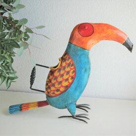 個性的 鳥さんのジョウロ インテリア アクセント 鳥好き 置物 鳥 Bird 前衛的 アート 芸術 実用的 オオハシ 南国 楽園 水差し1点物 オウム インコ バード おうち時間 ガーデニング 植物 花育