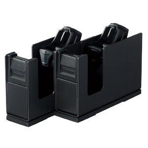 テープカッター <カルカット> スチール2連タイプ黒 ブラック コクヨ T-SM110D省スペース 店舗 まっすぐ 切れ味 小巻き可 レジ横 ラッピング 替刃あり