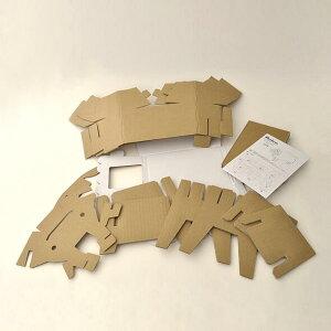 【コクヨのえほん】10-KE-RED1(コクヨ)Pastureコドモダンボール家具シリーズダンボールチェアヒツジ/羊就学前学習机組み立て