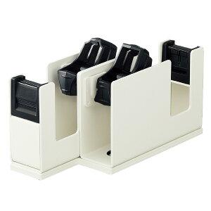 テープカッター <カルカット> スチール2連タイプ白 ホワイト コクヨ T-SM110W省スペース 店舗 まっすぐ 切れ味 小巻き可 レジ横 ラッピング 替刃あり