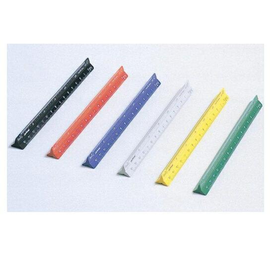 カラー三角スケール 15cm <オールプラスチック> DRAPAS(ドラパス) 854-NO16-241〜246