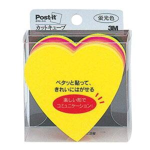 ポストイットノート カラーキューブ ハート 蛍光カラー5色 スリーエムジャパン(3M)CC-31