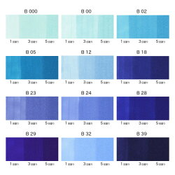 COPICciao/コピックチャオ単品[B・Blue(青)系]TOO855-コピツクチヤオB**【ネコポス可】エントリーモデルデザインイラストまんが絵画教材アルコール染料インクツインニブ丸形ボディニブ交換可インク補充可