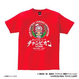 広島カープグッズ ワンピース×カープ 2018リーグチャンピオン Tシャツ