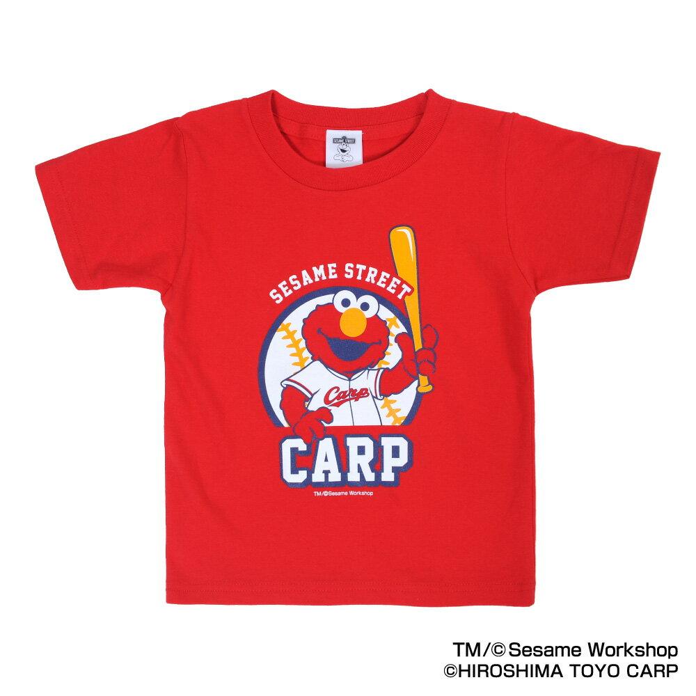 広島東洋カープグッズ SESAME STREET×カープ Tシャツ(エルモ)子供用