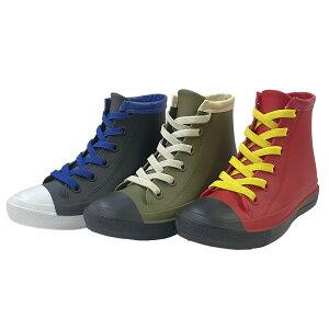 キッズ レインブーツ RM-031 スニーカー 子供 ジュニア 18cm〜22cm 長靴 男の子 女の子 ショート おしゃれ ブラック ピンク カーキ