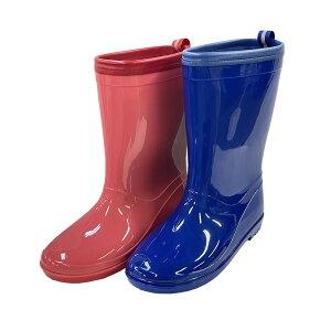 キッズ レインブーツ RM-033 子供 ジュニア 19cm〜23cm 長靴 男の子 女の子 完全防水 ネイビー ピンク