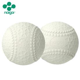 ナイガイ 軟式野球ボール J号 学童向け 2球セット【送料無料】