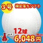 検定落ちソフトボール3号球ナイガイソフトボール1ダース(12球)<野球用品/グッズ>【05P10Dec69】