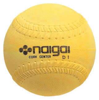ソフトボールボール(イエロー)3号球検定球27%OFFナイガイ6球<野球用品/グッズ>【05P10Dec408】