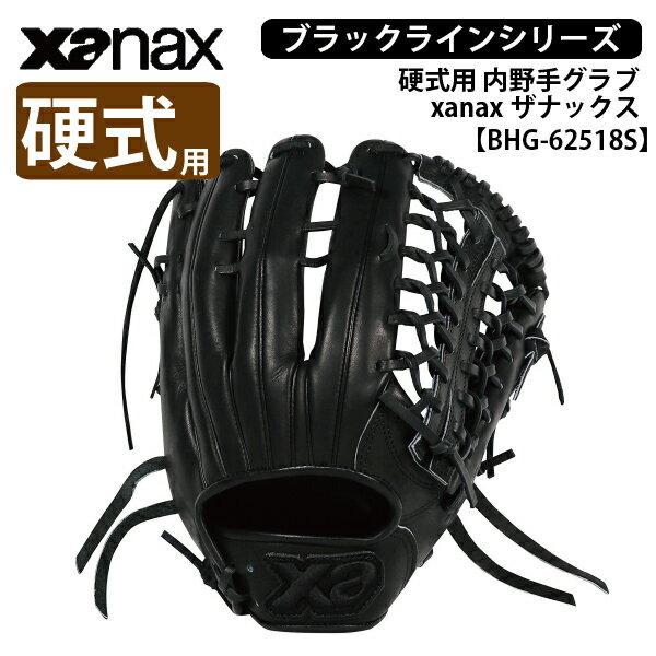 【ザナックス】硬式用グラブ 外野手用[BHG-72118S] トラスト BLACK LINE xanax
