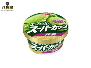 明治 エッセルスーパーカップ 抹茶 200ml×24個 買い置き チョイ足し ラクトアイス 要冷凍 木製さじ付