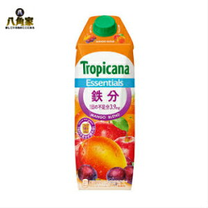 トロピカーナ エッセンシャルズ 鉄分 1000ml×6本 Tropicana Essentials 果実飲料 栄養補給 キャップ付き容器