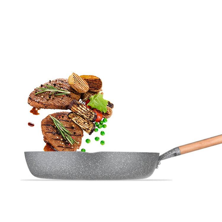 MOTOMI 鍋 IH対応 フライパン 30cm マーブル 片手 ステーキ鍋