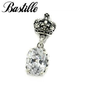 【Bastille/バスティーユ】アミュレットピアス シルバー925 王冠 クラウン ピアス 立体的 シルバーピアス ドロップピアス 可愛い K18