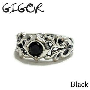 【GIGOR/ジゴロウ】ストーンハーツリング/Black CZ シルバーリング Silver925 シルバー925 メンズ メンズリング 20代 30代 40代 指輪 ギフト プレゼント