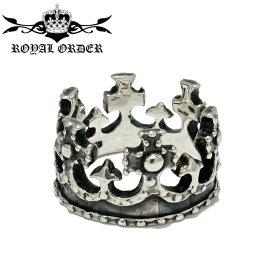 【Royal Order/ロイヤルオーダー】 ROYAL CROWN RING/ロイヤルクラウン 王冠リング ゴシック調 ロココ調 指輪 シルバーアクセサリー メンズアクセサリー silver925 シルバーリング Ring