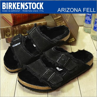 BIRKENSTOCK Birkenstock ARIZONA FELL AZ fur liner black shoes Sandals shoes