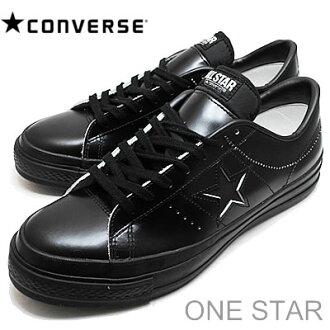 CONVERSE (교제) ONE STAR J (원 스타) 블랙 단색