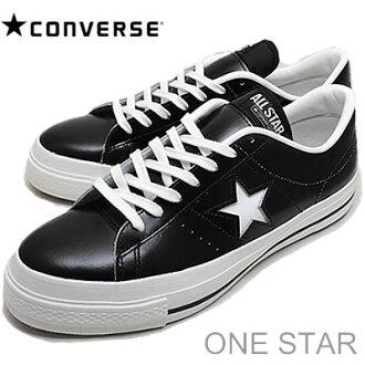 CONVERSE (교제) ONE STAR J (원 스타) 블랙/화이트