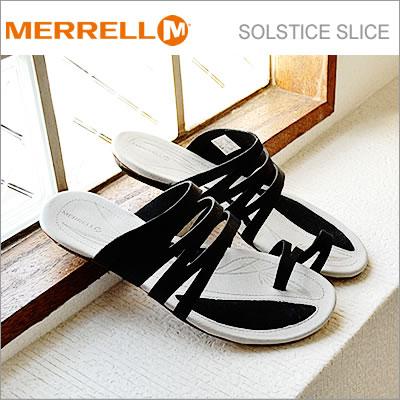 MERRELL メレル SOLSTICE SLICE ソルスティス スライス BLACK ブラック 靴 レディース サンダル コンフォート シューズ【あす楽対応】