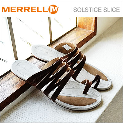 MERRELL メレル SOLSTICE SLICE ソルスティス スライス CLOVE クローブ 靴 サンダル コンフォート シューズ【あす楽対応】